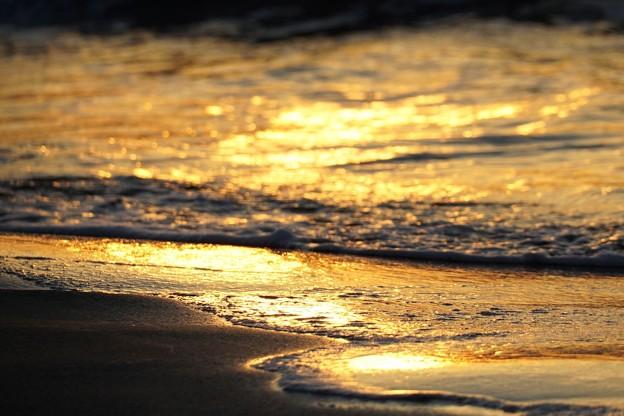千里浜 黄金の浜辺