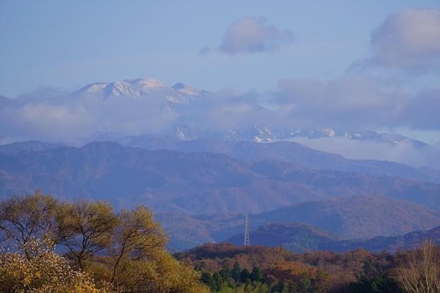 晩秋の白山