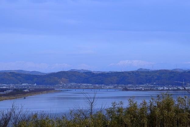 河北潟から 立山連峰