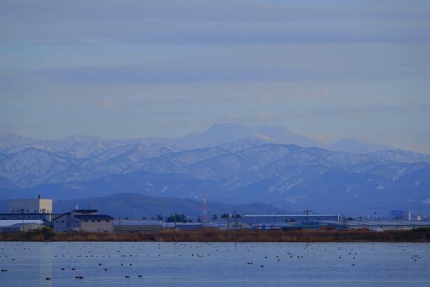 河北潟から白山
