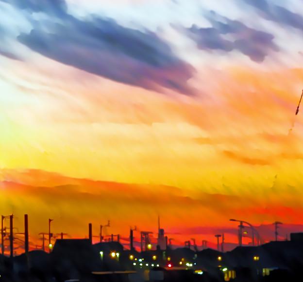 故郷の夕焼け