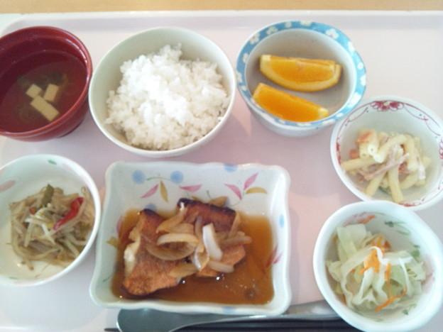6月22日昼食(赤魚のポン酢ソース) #病院食