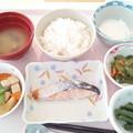 2月16日昼食(鮭の粕漬け焼き) #病院食