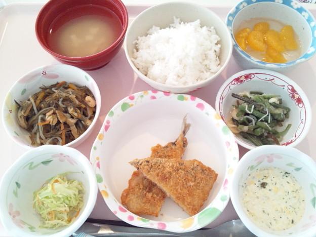 2月18日昼食(アジフライ) #病院食