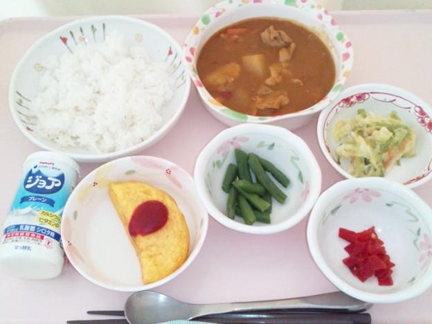 2月19日昼食(チキンカレー) #病院食