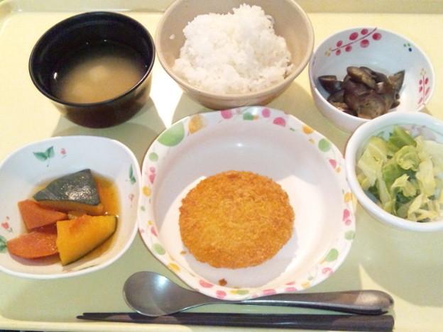 2月20日夕食(クリームコロッケ) #病院食