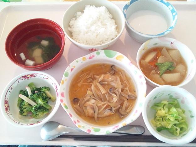 2月21日昼食(鶏肉のきのこソース) #病院食