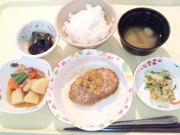 2月21日夕食(豆腐ハンバーグ) #病院食