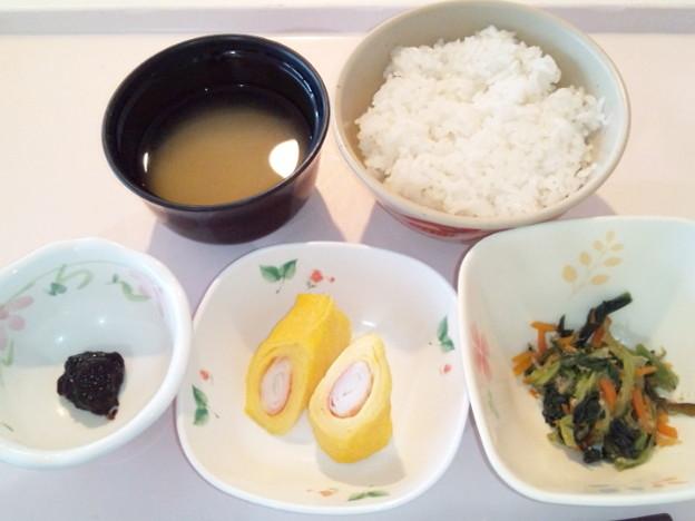 2月22日朝食(越前玉子巻き) #病院食