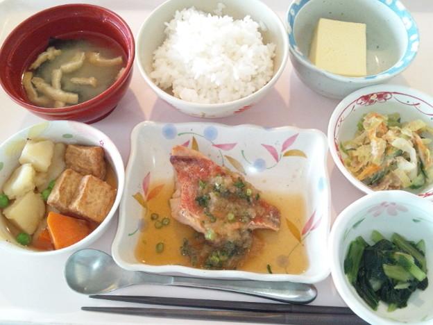 3月18日昼食(赤魚のみぞれ煮) #病院食