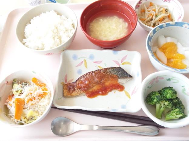 4月20日昼食(めだいのチリソース) #病院食