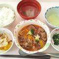 4月22日昼食(牛肉のトマト煮) #病院食