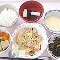 5月21日昼食(豚肉とキャベツの味噌炒め) #病院食