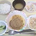 5月23日夕食(ハンバーグおろしポン酢) #病院食