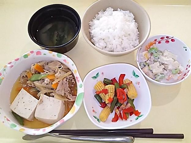 5月24日夕食(肉豆腐) #病院食