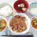 6月12日昼食(豚肉の味噌炒め) #病院食