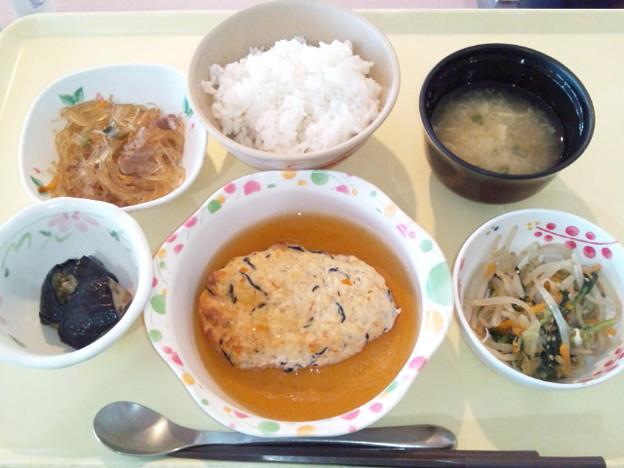 6月19日夕食(豆腐ハンバーグ) #病院食