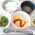 7月10日朝食(オムレツ) #病院食