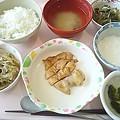 7月10日昼食(鶏肉の梅照り焼き) #病院食