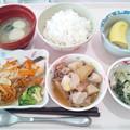 7月11日昼食(鮭のバター醤油焼き) #病院食
