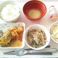 7月14日昼食(鮭のポン酢ソース) #病院食