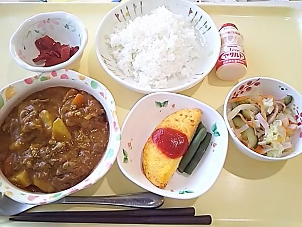 7月20日夕食(ビーフカレー) #病院食