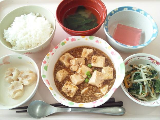 8月16日昼食(麻婆豆腐) #病院食
