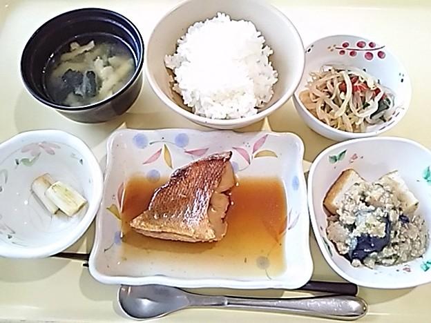 8月19日夕食(赤魚の煮付け) #病院食
