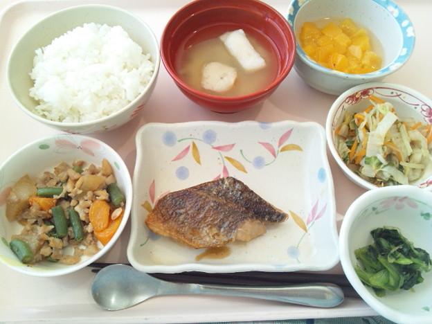 8月22日昼食(めばるの蒲焼き) #病院食