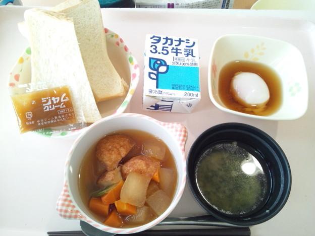 9月19日朝食(魚河岸揚げの煮物) #病院食