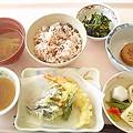 9月19日昼食(天ぷら盛り合わせ) #病院食