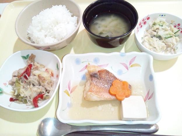 9月20日夕食(赤魚の生姜煮) #病院食