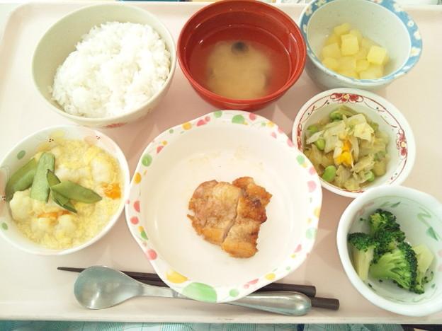 9月22日昼食(鶏肉の胡麻焼き) #病院食