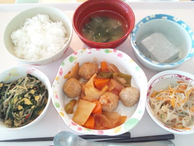 10月15日昼食(肉団子の酢豚風) #病院食