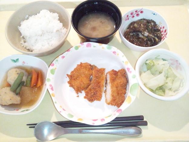 10月16日夕食(チキンカツ) #病院食