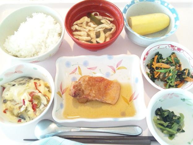10月18日昼食(赤魚のみぞれ煮) #病院食