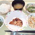 10月21日夕食(鶏のにんにく塩麹焼き) #病院食