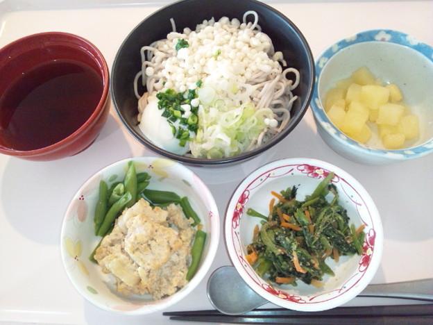 11月13日昼食(月見そば) #病院食