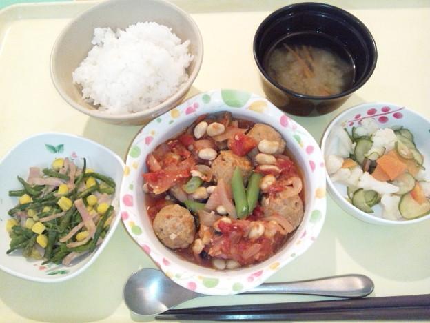 11月16日夕食(肉団子のトマト煮) #病院食