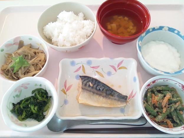 11月18日昼食(鯖の味噌煮) #病院食