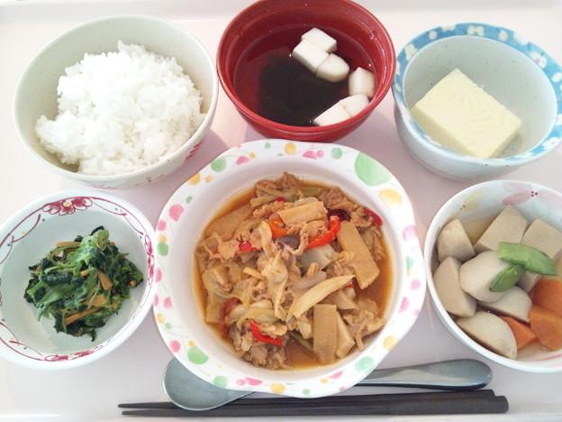 11月21日昼食(豚肉とキャベツの味噌炒め) #病院食