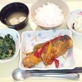 12月7日夕食(鮭の南蛮漬け) #病院食