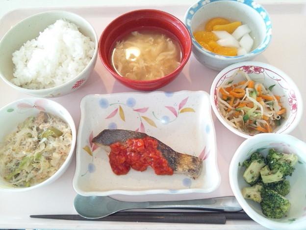 12月9日昼食(めだいのチリソース) #病院食