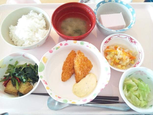 12月12日昼食(白身魚フライ) #病院食