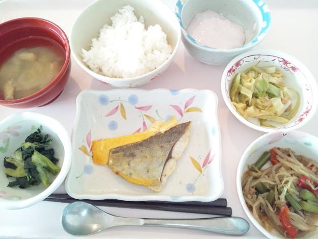 12月17日昼食(めだいの黄身焼き) #病院食