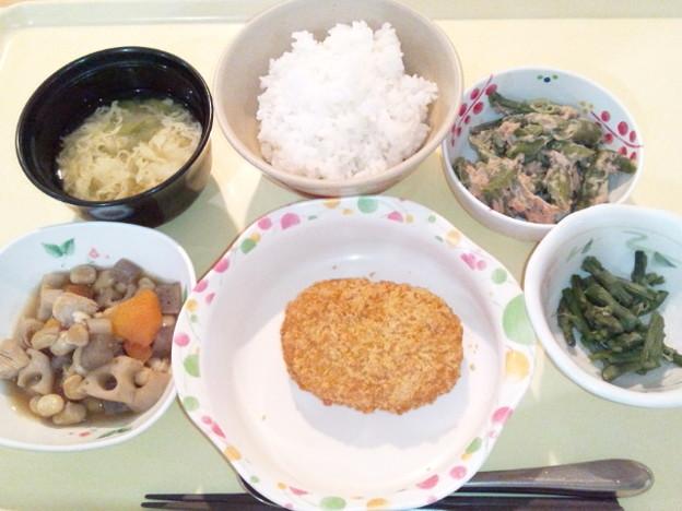 12月17日夕食(肉じゃがコロッケ) #病院食
