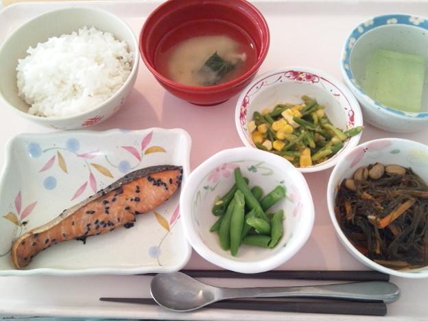 12月19日昼食(鮭の南部焼き) #病院食