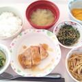 1月13日昼食(鶏肉の梅照り焼き) #病院食