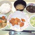 1月15日夕食(チキンカツ) #病院食