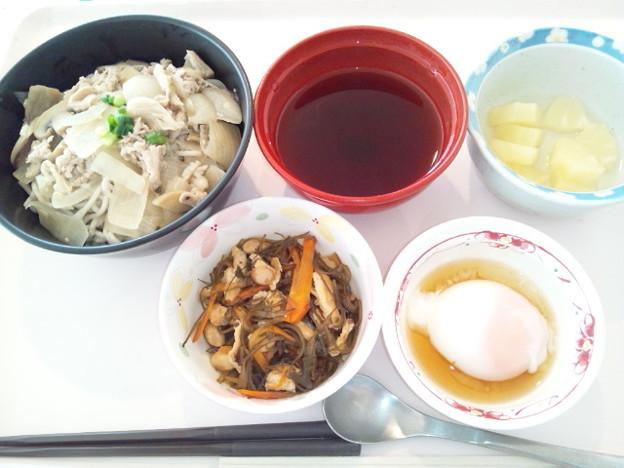 1月16日昼食(牛肉そば) #病院食